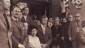 Pierre Eliott Trudeau et N. Arcand à Farnham
