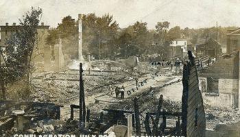 Incendie majeur rue du Dépôt le 30 juillet 1911.