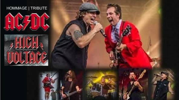 Hommage à AC/DC avec le groupe High Voltage