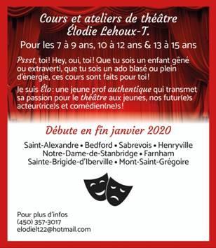 Cours et ateliers de théâtre Élodie Lehoux-T.
