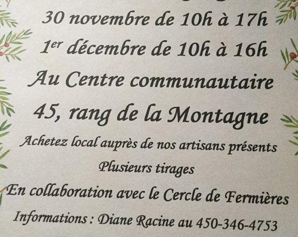 Marché de Noël – Mont-Saint-Grégoire