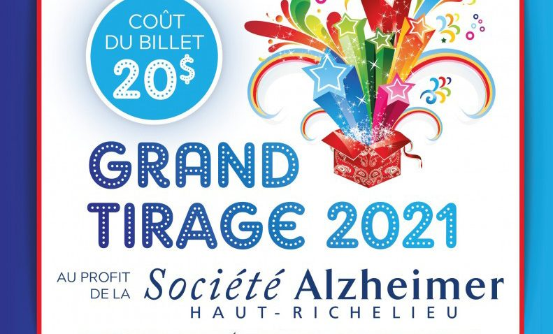 Grand tirage 2021 au profit de la Société Alzheimer Haut-Richelieu