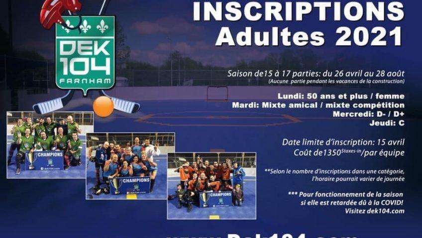 Dek Hockey – Inscriptions Adultes 2021