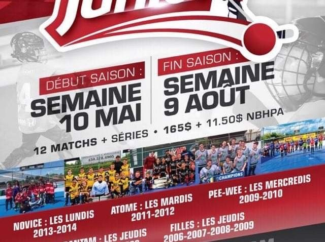 Inscriptions juniors de Dek Hockey