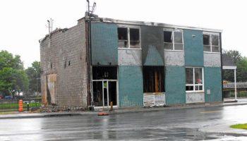 Incendie à Farnham (Ancien édifice autrefois de la Caisse populaire)  – 14 juin 2021.