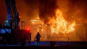 Incendie majeur à la Meunerie Robitaille – 21 mai 2021.