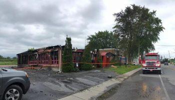 Incendie au restaurant Papilou – Du 29 au 30 juin 2021 vers 2h30.