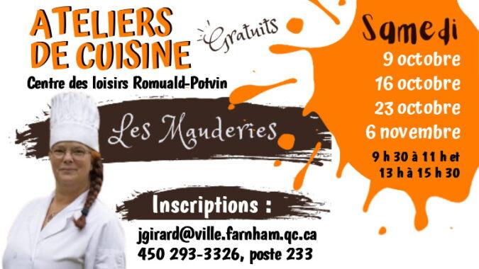 Ateliers de cuisine – Les Mauderies