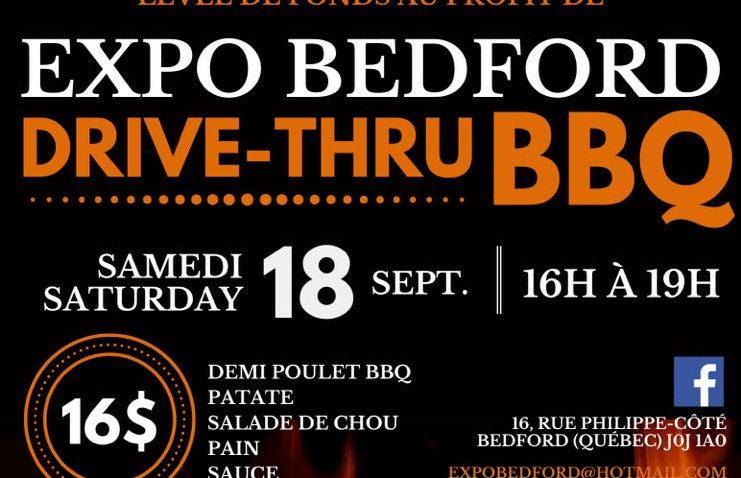 DRIVE-THRU BBQ au profit de l'Expo Bedford